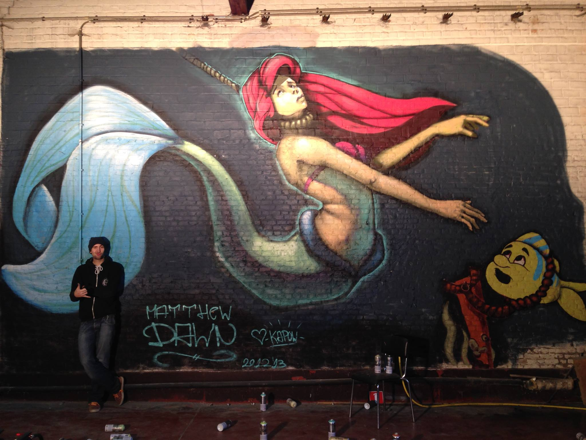 Matthew Dawn Graffiti Artist The Little Mermaid Ghent Belgium - Street Art Graffiti Belgium