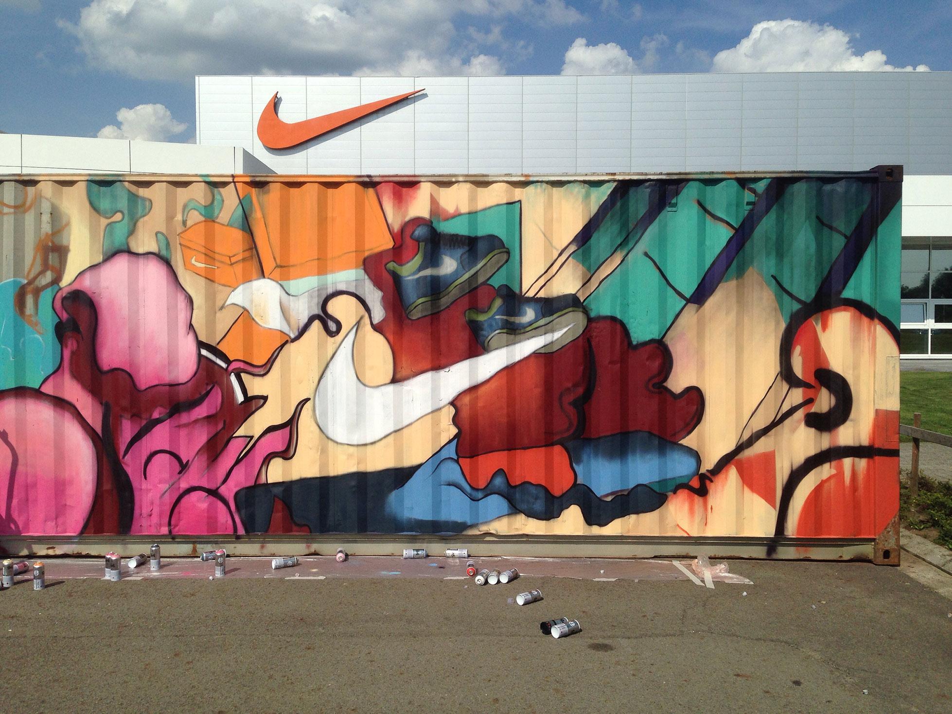 Matthew Dawn Graffiti Artist Nike ELC Laakdal Belgium