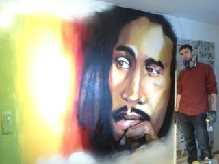 Matthew Dawn Graffiti Artist Bob Marley - Street Art Graffiti Belgium