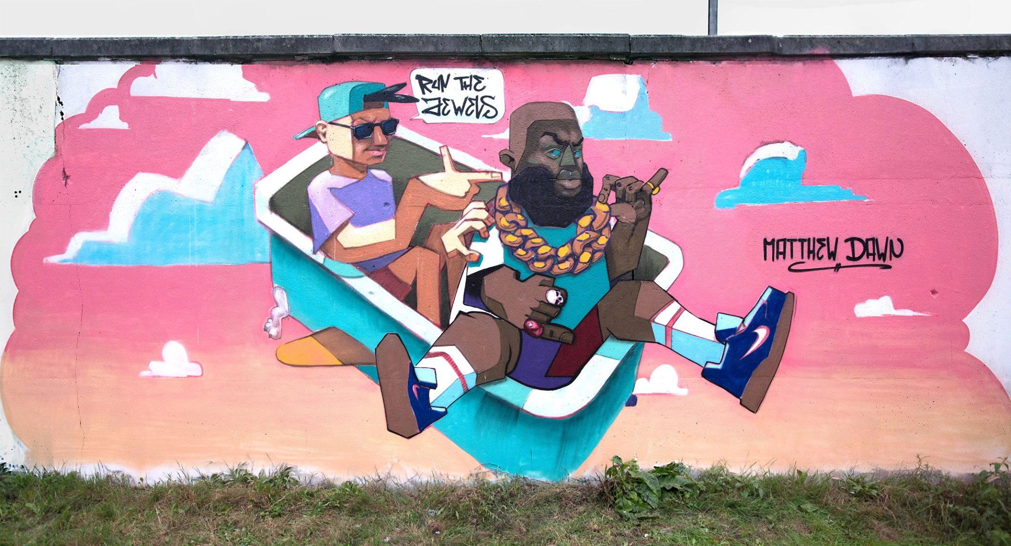 Matthew Dawn Run The Jewels Graffiti Sint Niklaas Belgium - Street Art Graffiti Belgium
