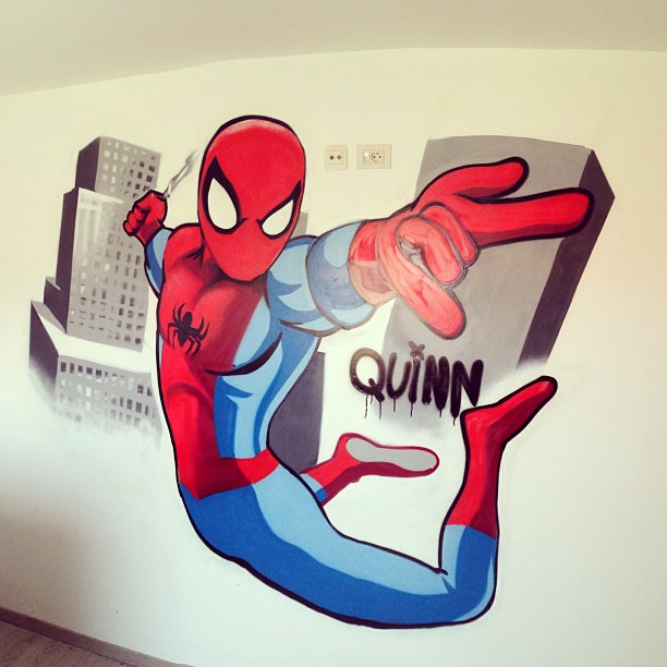 Matthew Dawn graffiti spiderman - Street Art Graffiti Belgium