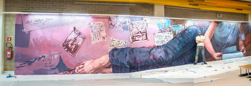 Bpost Belgie philatelie matthew dawn street art graffiti muurschildering
